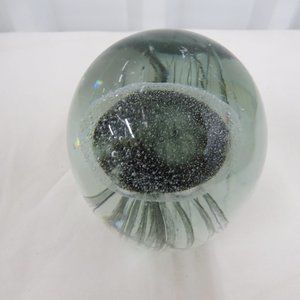 "Accents - 6"" JELLYFISH Clear Glass Paperweight"